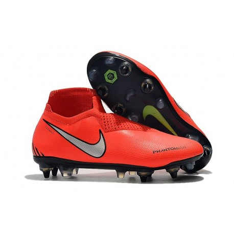Nike Phantom Vision Elite DF SG-Pro Anti Clog Rouge Argent