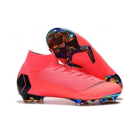 Crampons de Football Nike Mercurial Superfly VI Elite FG - Rose Noir