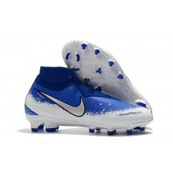 Nike Phantom VSN Elite Dynamic Fit FG Crampons - Bleu Blanc