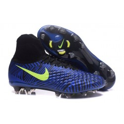 Nike Magista Obra II FG Nouveau Chaussure de Foot Bleu Noir Jaune