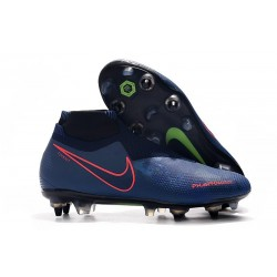 Nike Phantom Vision Elite DF SG-Pro Anti Clog Bleu Rouge