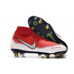 Nike Phantom Vision Elite DF SG-Pro Anti Clog Rouge Blanc