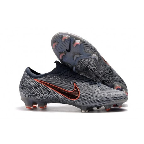 Nike Chaussure Mercurial Vapor XII 360 Elite FG Gris Noir Orange