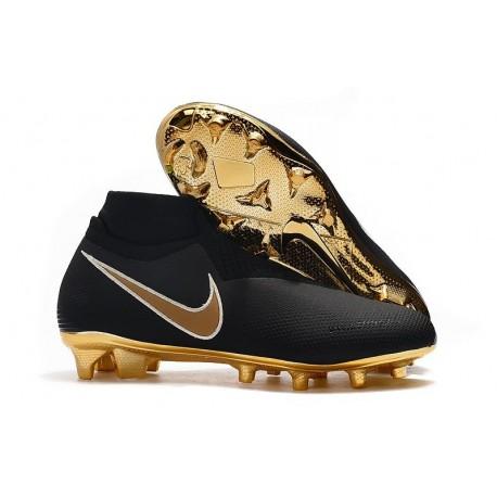 Nike Phantom VSN Elite Dynamic Fit FG Crampons Noir Or