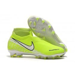 Chaussure Nike Phantom Vision Elite DF FG Volt Blanc