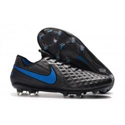Chaussure Nouvelles Nike Tiempo Legend 8 Elite FG Noir Bleu