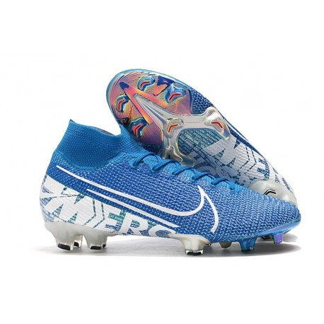 Crampons Nike Mercurial Superfly 7 Elite FG New Lights Bleu