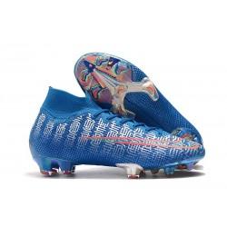 Crampons Nike Mercurial Superfly 7 Elite FG Ronaldo Shuai Bleu