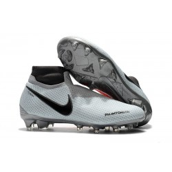 Chaussures Nike Phantom Vision Elite Dynamic Fit FG - Gris Rouge