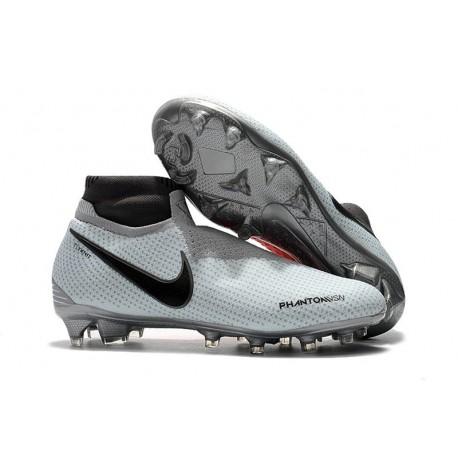 Chaussures Nike Phantom Vision Elite Dynamic Fit FG - Gris Rouge