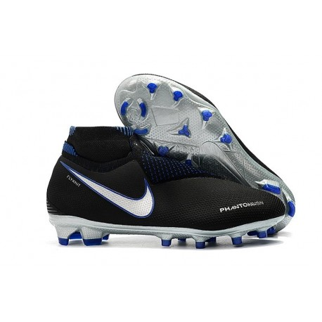 Chaussures Nike Phantom Vision Elite Dynamic Fit FG - Noir Bleu