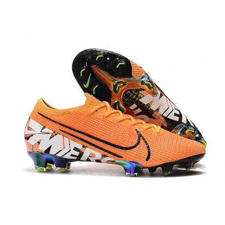 Chaussure Nike Mercurial Vapor 13 Elite FG Orange Blanc