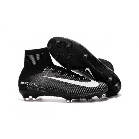 Chaussures de Foot Nike Mercurial Superfly V FG ACC Homme Noir Blanc