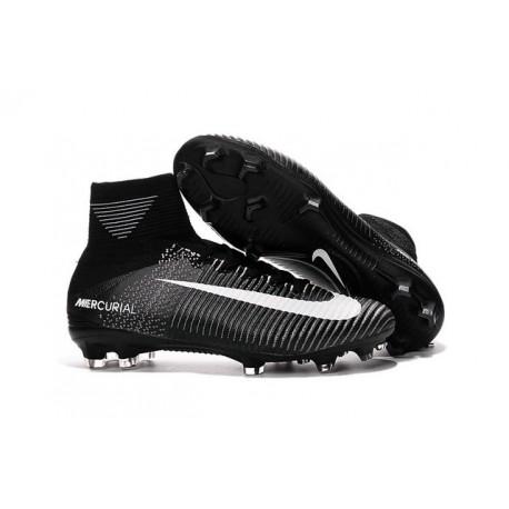 Chaussures de Foot Nike Mercurial Superfly V FG ACC Homme Noir Blanc