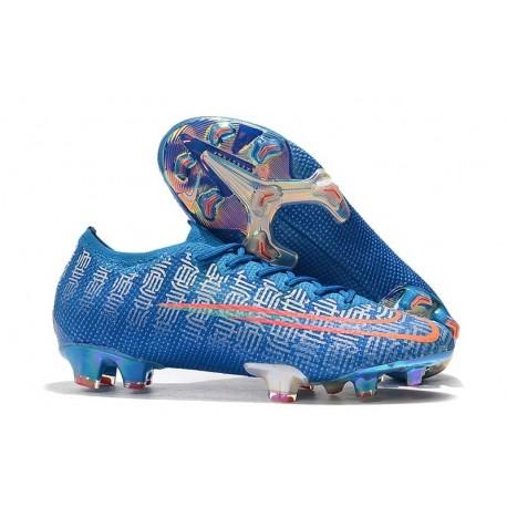 Chaussure Nike Mercurial Vapor 13 Elite FG Bleu Rouge