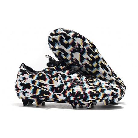 Chaussure Nouvelles Nike Tiempo Legend 8 Elite FG Noir Blanc