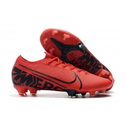 Chaussure Nike Mercurial Vapor 13 Elite FG Rouge Noir