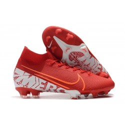 Crampons Nike Mercurial Superfly 7 Elite FG Rouge Blanc