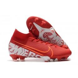 Crampons Nike Mercurial Superfly 7 Elite FG Rouge Blanc