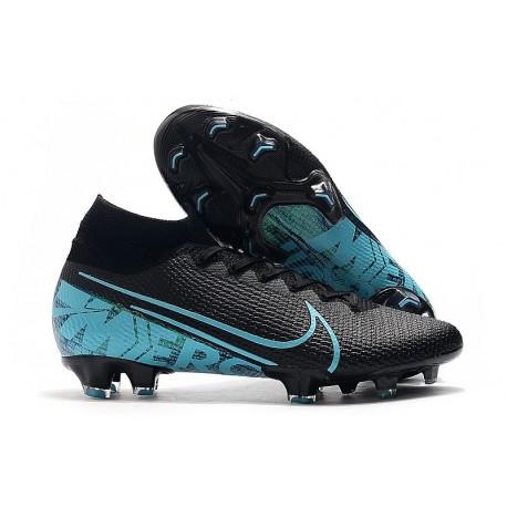 Crampons Nike Mercurial Superfly 7 Elite FG Noir Bleu