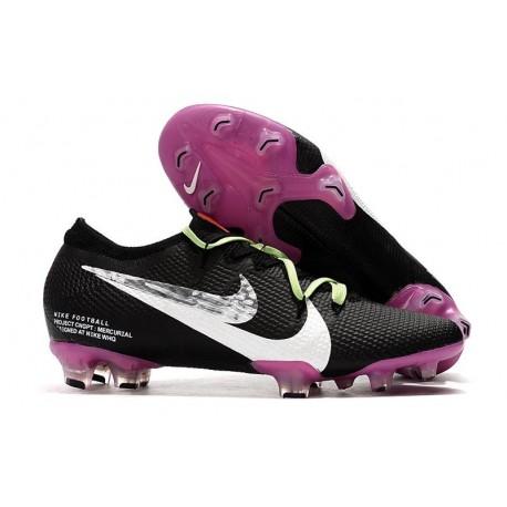 Nike Mercurial Vapor XIII Elite FG Neuf Crampon Noir Violet Blanc