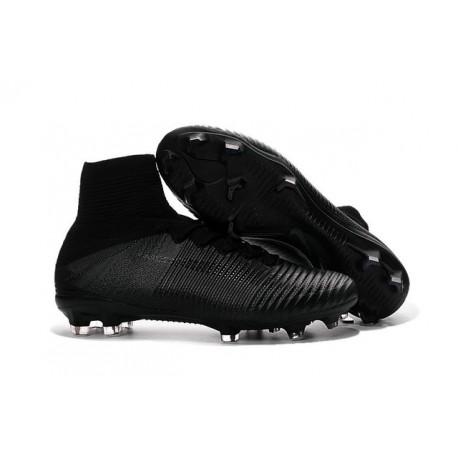 Nike Mercurial Superfly 5 FG Nouvelle Crampons de Football Tout Noir