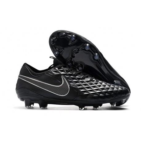 Chaussure Nouvelles Nike Tiempo Legend 8 Elite FG Noir