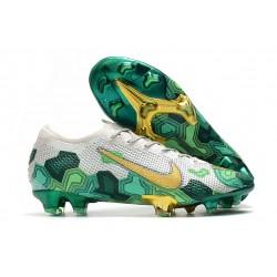 Nike Mercurial Vapor XIII Elite FG Neuf Crampon Mbappe Gris Vert Or