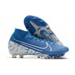 Nike Mercurial Superfly 7 Elite AG-PRO Bleu Blanc