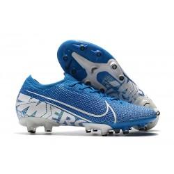 Crampons Nike Mercurial Vapor 13 Elite Pro AG Bleu Blanc