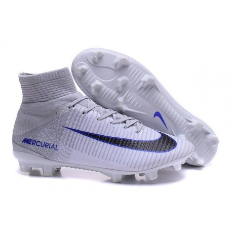 Nike Mercurial Superfly 5 FG Nouvelle Crampons de Football Blanc Noir