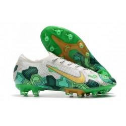 Crampons Nike Mercurial Vapor 13 Elite Pro AG Mbappe Gris Or Vert