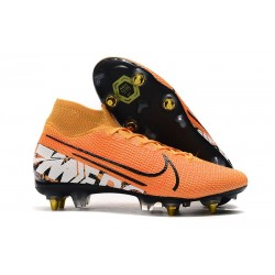 Nike Mercurial Superfly 7 Elite SG-Pro AC Orange Blanc