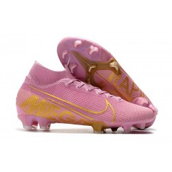 Nike Chaussure Mercurial Superfly VII Elite FG Rose Or