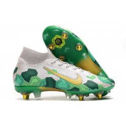 Nike Mercurial Superfly 7 Elite SG-Pro AC Mbappe Gris Verde Or