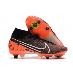 Nike Mercurial Superfly 7 Elite SG-Pro AC Noir Orange Blanc