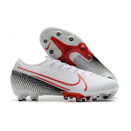 Crampons Nike Mercurial Vapor 13 Elite Pro AG Blanc Cramoisi