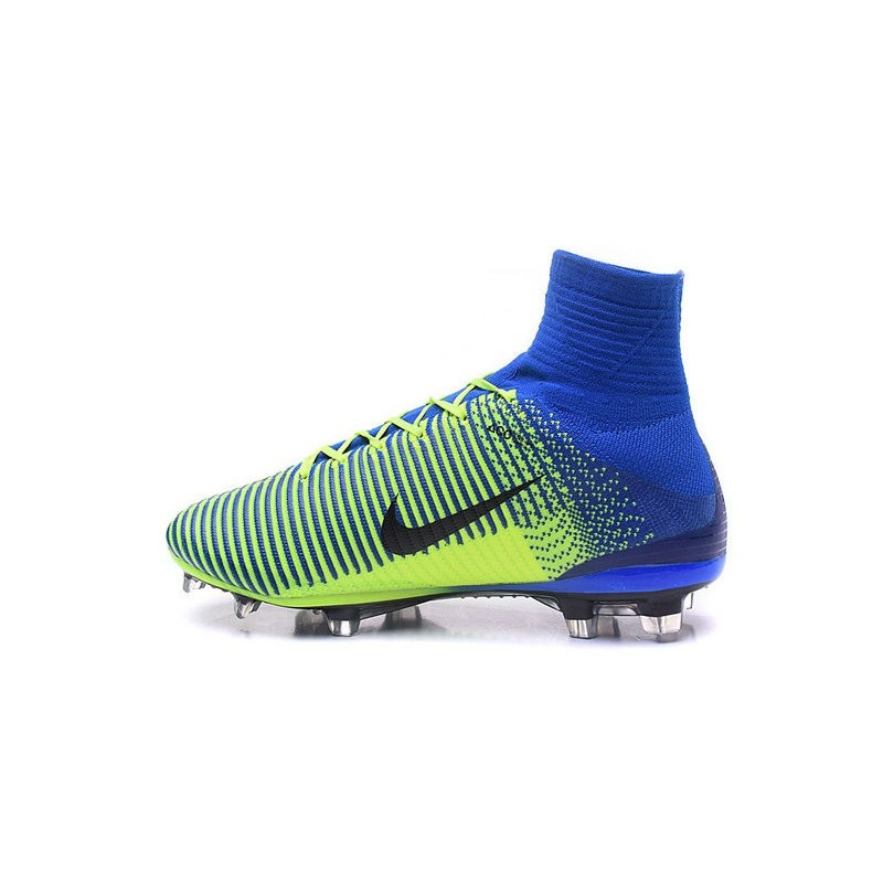 online retailer ea67a 1a2e3 Nike Mercurial Superfly 5 FG Nouvelle Crampons de Football Bleu Vert Noir