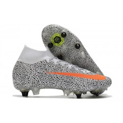 Nike Mercurial Superfly VII Elite SG-PRO CR7 Safari-Blanc Orange Noir