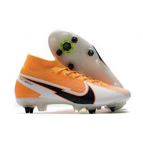 Nike Mercurial Superfly VII Elite SG-PRO- Orange Laser Noir Blanc