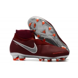 Chaussures Nike Phantom Vision Elite Dynamic Fit FG - Rouge Argent