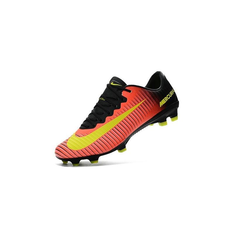 cheap for discount 4b1dc b92b7 Chaussures football Nike Mercurial Vapor XI FG Homme Orange Jaune Zoom.  Précédent. Suivant