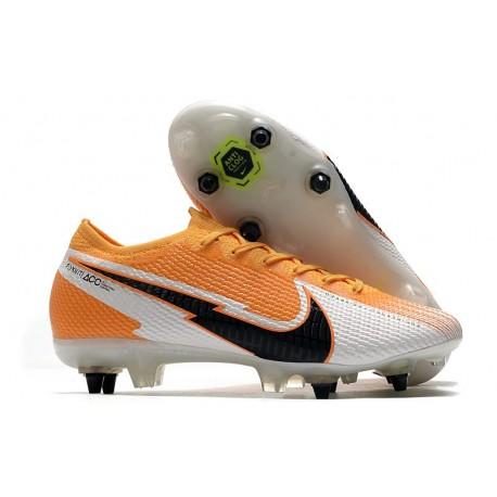 Nike Mercurial Vapor 13 Elite SG-Pro Anti Clog Orange Laser Noir Blanc