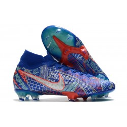 Nike Mercurial Superfly 7 Elite FG Sancho SE11 Bleu Rouge Argent