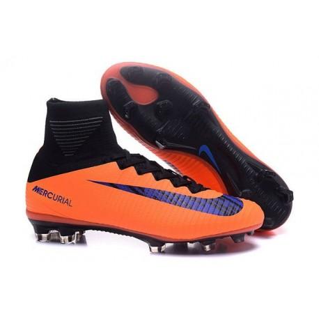 Nike Mercurial Superfly V FG - Homme Crampon de Foot - Orange Violet