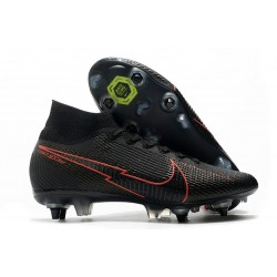 Nike Mercurial Superfly VII Elite SG-PRO Anti Clog Noir Rouge
