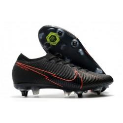 Nike Mercurial Vapor 13 Elite SG-Pro Anti Clog Noir Rouge