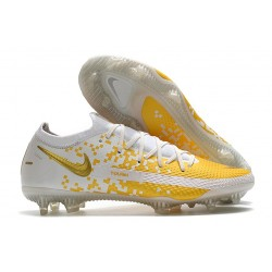 Nike Phantom GT Generative Texture Elite FG Blanc Or