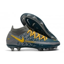 Nike Phantom GT Elite Dynamic Fit DF FG Bleu Gris Jaune