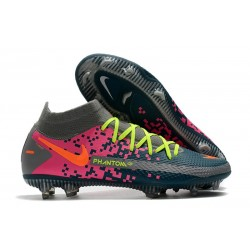 Nike Phantom GT Elite Dynamic Fit DF FG Bleu Gris Rose